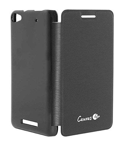 TBZ Flip Cover Case for Micromax Canvas 4 Plus A315 -Black