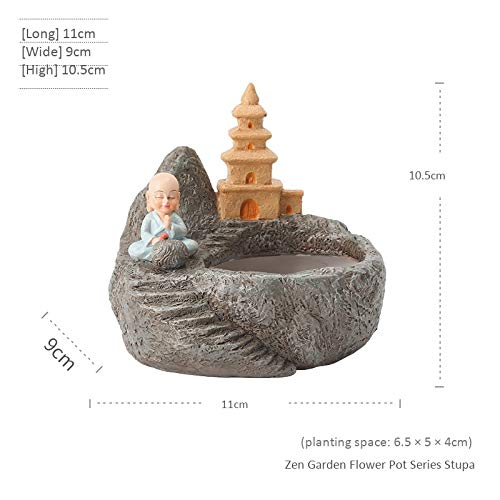 Garden Flower-serie (shunhuishangmao Blumentopfmikrolandschaftsblumenpflanzentopfdekoration der Karikatur saftige Zen Garden Flower Pot Series - Stupa Klein Zen Garden Flower Pot Series - Stupa Klein)