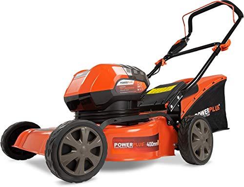 Powerplus POWDPG7565 - Cortacésped (Cortacésped manual, 400 m², 40 cm, 2,5 cm, 7,5 cm, 50 L)