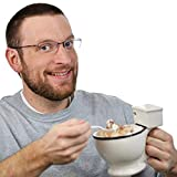 Yukio HomeFun- WC Becher aus Keramik Witzig Tasse Toilette Schüssel lustige Geschenke als Eisbecher kaffeetasse Candy Holder