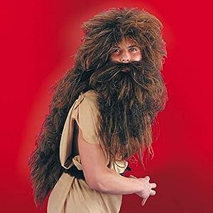 Carnival 2670-Peluca salvaje con barba de maletín