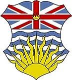 8 x 7 cm - Wappen Kontur geschnitten - Autoaufkleber British Columbia Aufkleber Sticker fürs Auto Motorrad handy laptop