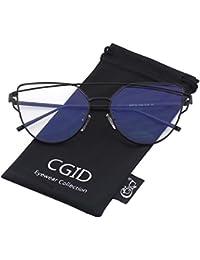 CGID MJ74 Lunettes de soleil polarisées cateye modernes et fashion réfléchissantes UV400 pour femmes