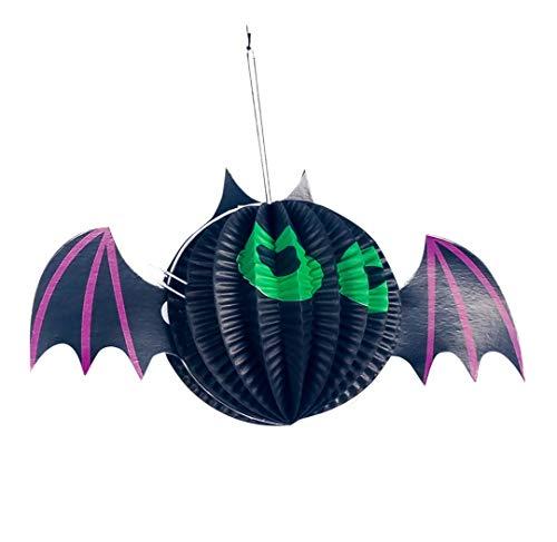 Allegorly Halloween deko, DIY Halloween-Thema Creative Halloween Dekoration Anhänger Bar Atmosphäre Arrangement Papier Dekoration Spinne - Moderne Hexen Kostüm