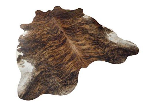 Tapis Peau De Vache Luxe - Exotique (Bringé) - 208 cm x 201 cm Déco Tapis Intérieur de Narbonne Leather Co