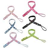 OOTSR [6-Pack Schnuller Clip Holder Leash für Babys und Jungen, einstellbar Schnuller Clip Leash Strap Strapazierfähiger Verschluss Design für Babyflasche Schnuller Kinderkrankheiten Spielzeug