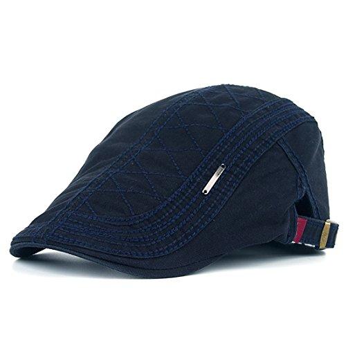 Kuyou cappello berretto gatsby flat cap coppola invernale unisex (blu navy)