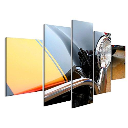 Cuadro Cuadros Faros del coche clásico cierre para arriba Impresión sobre lienzo - Formato Grande - Cuadros modernos EAE