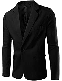 Homme Blazer Slim Fit Veste Casual Business Elegant Un Bouton Costume Manteau Jacket