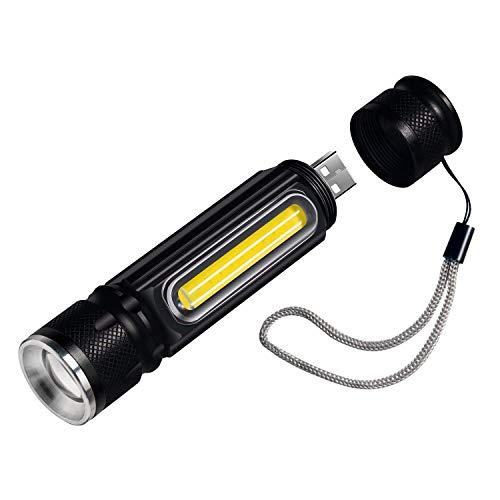 Zmsdt Taschenlampe 800 Lumen Eingebaute USB Aufladbare LED Taschenlampe LED Arbeitslicht Mit Magnet Wasserdichte Mini Camping Taschenlampe