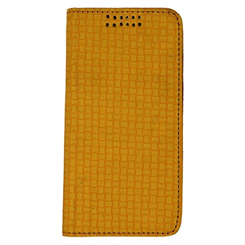 D.rD Artificial Leather Mobile Flip Cover For MICROMAX CANVAS COLOUR A120 (Yellow)