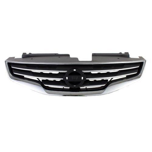 carpartsdepot, Limousine Front Gitter NEU schwarz Rahmen Chrom Shell, 400-361695ni120023662070zx00a (Altima Nissan Grill)