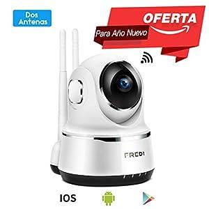 camaras de vigilancia por internet: Pan/Tilt FREDI WiFi Cámara IP/Cámara de Vigilancia/Cámara Seguridad y Inalámbric...