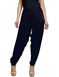 Senseless Navy Blue Color Viscose Party Wear Patiala Pants For Women