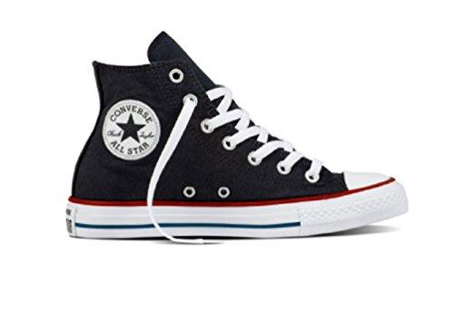 Converse - Ctas Hi Black/Garnet/White, Pantofole a Stivaletto Unisex – Adulto Mehrfarbig (Black/Garnet/White)