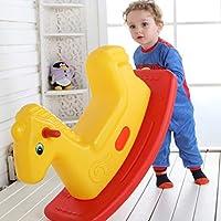 Rocking chair ☝YYIndoor Juguete para niños de Interior Caballo Mecedora, Niño niña Trojan 1-6 Años Silla Mecedora (Color : Amarillo)