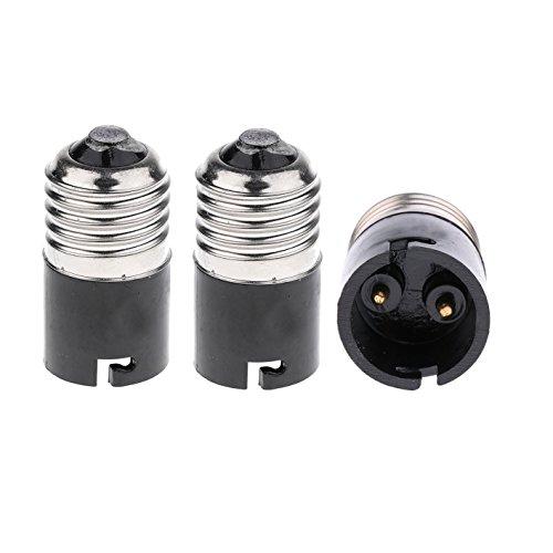 Adaptateur- convertisseur d'ampoules E27 à B22 FINELED, convertisseur de culot d'ampoule baïonnette E27 Edison vers B22 (paquet de 3)