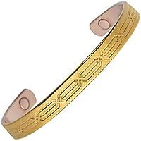 magnohealth Magnetarmreif, vergoldetes Kupfer magnetisch Armband banglet–Starke Neodym-Magnete–Zwei Größe... preisvergleich bei billige-tabletten.eu