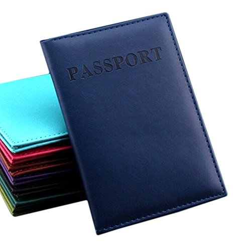 Woopower - Funda de pasaporte  Deep blue