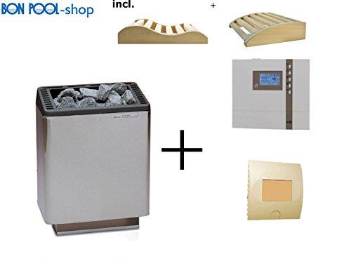 Poêle pour sauna Euro 12 kw + Econ D2 + commutateur de puissance lsg9 EOS incl. 2 tête cales Bon piscine