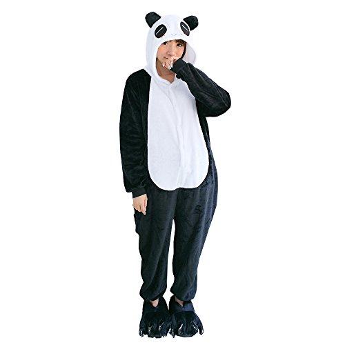 OCHENTA Femme Costume Cosplay Anime Animal Combinaison Pyjama Vetement de Nuit Flanelle Panda M(Taille 156-164cm)
