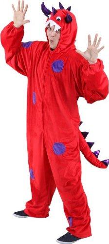 Monster rot-lila Overall für Sie und Ihn, Größe:175-190cm (Lila Monster-kostüm)