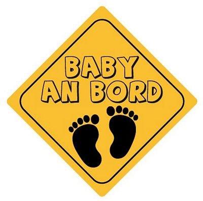 Autoaufkleber Sticker Achtung Baby an Bord Aufkleber