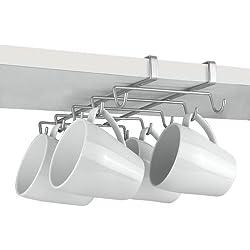Metaltex My-Mug - Colgador para 10 tazas, color plateado