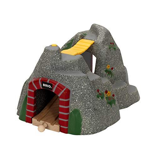 BRIO World 33481 Magischer Tunnel – Eisenbahnzubehör für die BRIO Holzeisenbahn – Kleinkinderspielzeug mit Effekten empfohlen für Kinder ab 3 Jahren (Ebene Elektrischer)