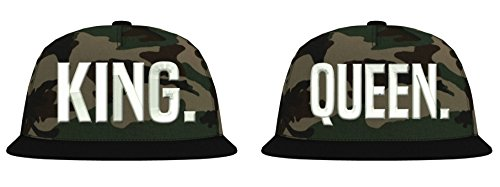 TRVPPY Snapback Camouflage Cap / Modell 'KING & QUEEN' / Weiß-Jungle Camouflage / B691