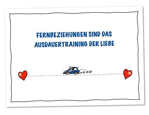 XXL Karte Fernbeziehung Auto Ausdauertraining der Liebe (DIN A4)
