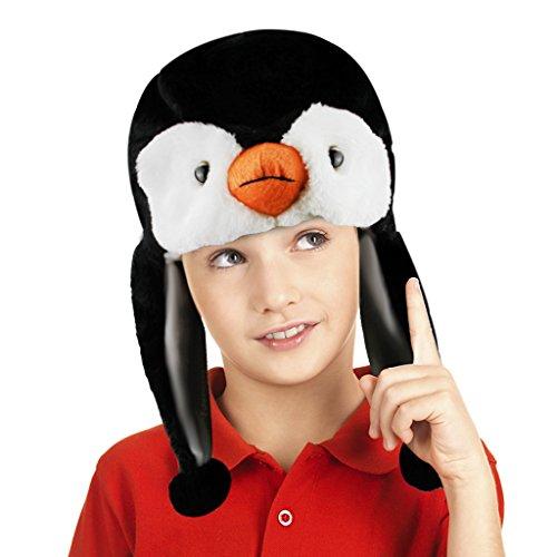 Cute Cartoon Tier Kapuze Hoodie Hat Kostüm Zubehör weichen Plüsch Herbst Winter warm Hat Mütze Kappen mit Ohrenklappen Ohr Wärmer für Kinder Erwachsene Weihnachten Halloween Geburtstag Geschenk, Kinder, pinguin, Einheitsgröße (Leopard Dog Kostüm)