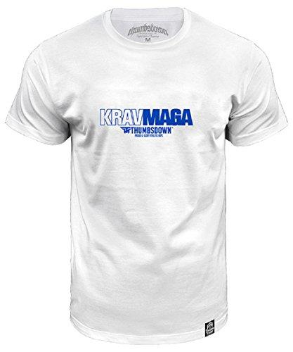 Krav Maga Thumbsdown Proud & Glory, MMA T-shirt (Größe Large) (Herren Shirt Glory)