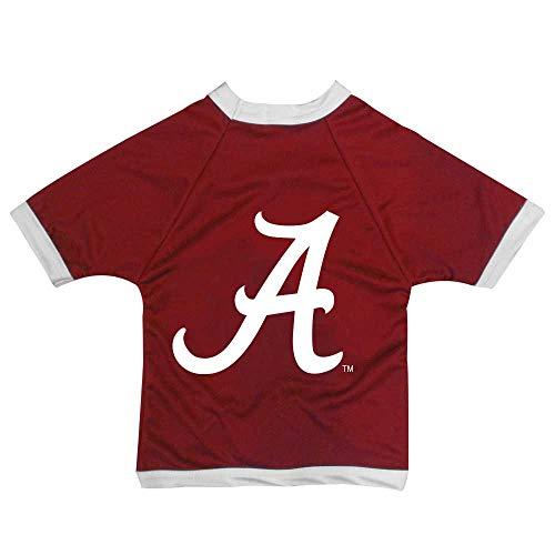 NCAA Alabama Crimson Tide Athletic Mesh Dog Jersey, Unisex-Erwachsene, Team Color, Large (Das A Team Dog Kostüm)