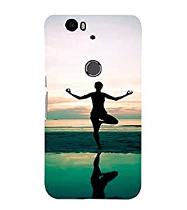 EPICCASE Yoga daily Mobile Back Case Cover For Huawei Nexus 6P (Designer Case)