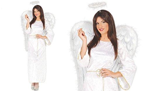 Guirma Engels-Kostüm Mann Frau Erwachsener (Flügel Kostüm Engel Männer Für)