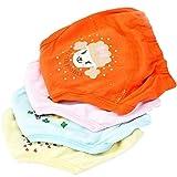 NaiCasy 4 PCS Baby-Trainings-Hosen wasserdichte Potty Training Unterwäsche Wiederverwendbare 4-Layer-Tuch-Windel für 2-3 Jahre Kleinkind, Newborns Farbe Sortiert