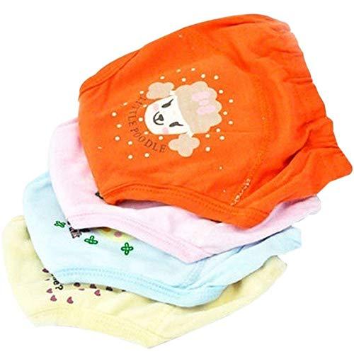 rainings-Hosen wasserdichte Potty Training Unterwäsche Wiederverwendbare 4-Layer-Tuch-Windel für 2-3 Jahre Kleinkind, Newborns Farbe Sortiert ()