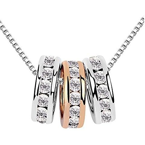 Alrededor de 101–regalo de Navidad Swarovski Jewerly Cristal Austríaco Edge Juego Sansei Anillo Elegante Collar Con