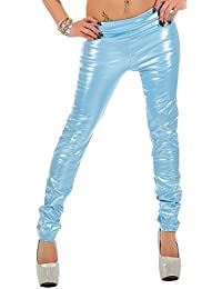 Lackoptik-Hose Gr. 32-50 (S - 6XL) Lack-Look * Gothic Fetisch Übergröße plus size Damenhose Leggings Leggins Damen