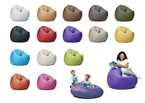 sunnypillow XXXL Sitzsack mit Füllung 145 cm Durchmesser 2-in-1 Funktionen zum Sitzen und Liegen Outdoor & Indoor für Kinder & Erwachsene viele Farben und Größen zur Auswahl Violett