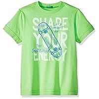 United Colors of Benetton Erkek Çocuk Tişört Kaykay Baskı Slogan Tshirt