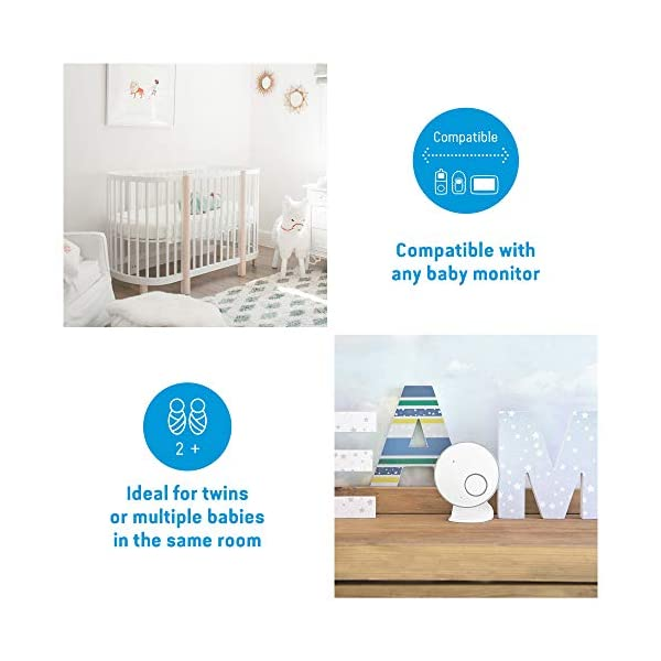 Angelcare Ac027 Baby Movement Monitor Angelcare New smaller, wireless sensasure movement sensor pad Alarm will sound if there is no movement after 20 seconds Non-contact monitoring 5