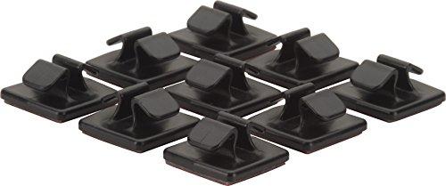 HR GRIP Kabelhalter-Set bestehend aus 9 STK [Selbstklebend I Made in Germany I wiederverwendbar] - schwarz - 56910211