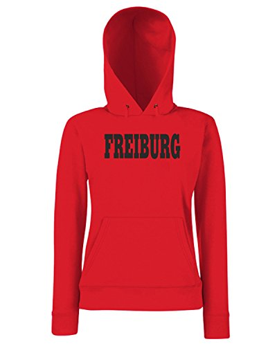 T-Shirtshock - Sweats a capuche Femme WC0806 FREIBURG GERMANY CITY Rouge