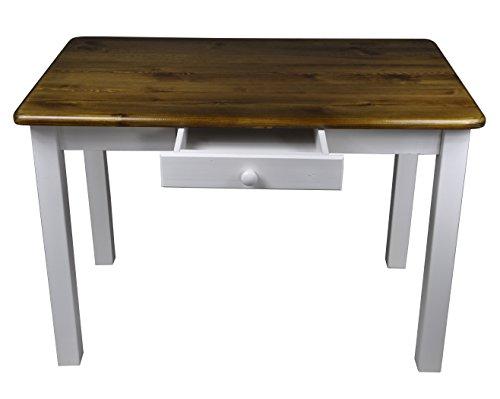 Esstisch mit Schublade Küchentisch Tisch Restaurant Massiv holz Kiefer (50x70, Eiche)