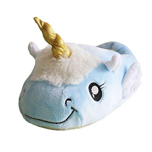 Pantofole Di Unicorno Peluche Arcobaleno Volpe Adulto Blu-ala