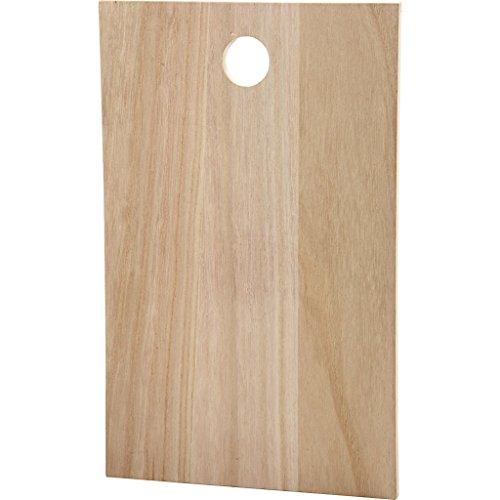 Assiette en bois, dimensions 35 x 22 cm, épaisseur 13 cm, Empress Tree, 1 pièce.