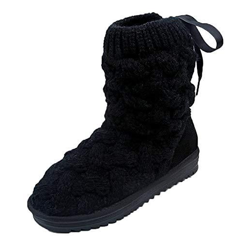 Damen Freizeit Mode Schuhe, Malloom Runde Kopf Mode hübsche Seite Agraffe Low Heel High Top Punk Biker Schuhe Größe schwarz, weiß, braun Größe: 35-43