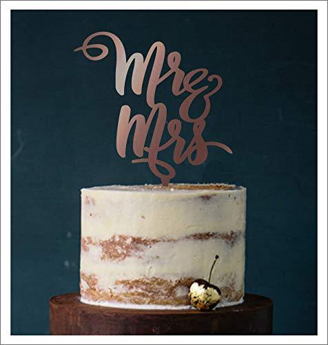 Manschin-Laserdesign Cake Topper, Tortenstecker, Tortenfigur Acryl, Tortenständer Etagere Hochzeit Hochzeitstorte (Bronze (verspiegelt einseitig))